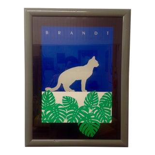 1985 Marc Brandt Signed Feline Collotype For Sale