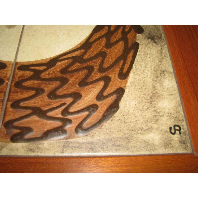 Wood Modern Wooden Coffee Table with Tile Insert For Sale - Image 7 of 10