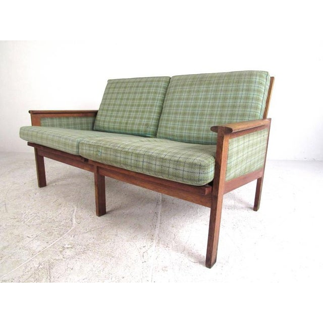 "Fabric Illum Wikkelsø for N. Eilersen A/S Mid-Century Modern ""Capella"" Settees - A Pair For Sale - Image 7 of 11"