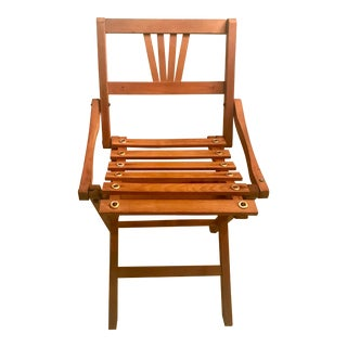 Vintage Folding Wooden Child's Chair For Sale