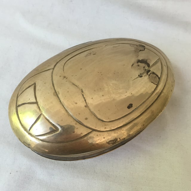 Vintage Brass Scarab Box - Image 2 of 5