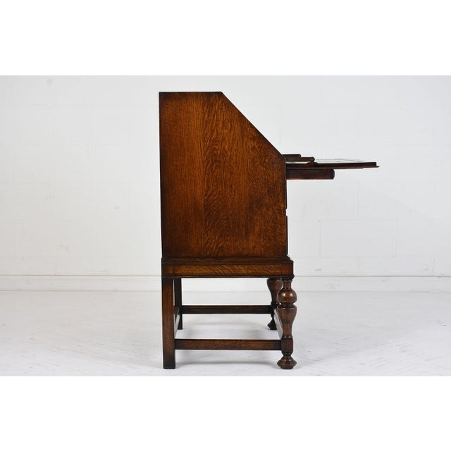 19th Century Jacobean-style Drop-Front Desk For Sale - Image 4 of 10