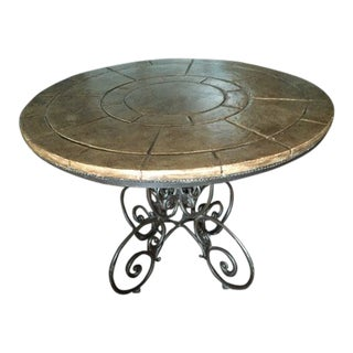 Henredon Registry Wrought Iron Scroll Table