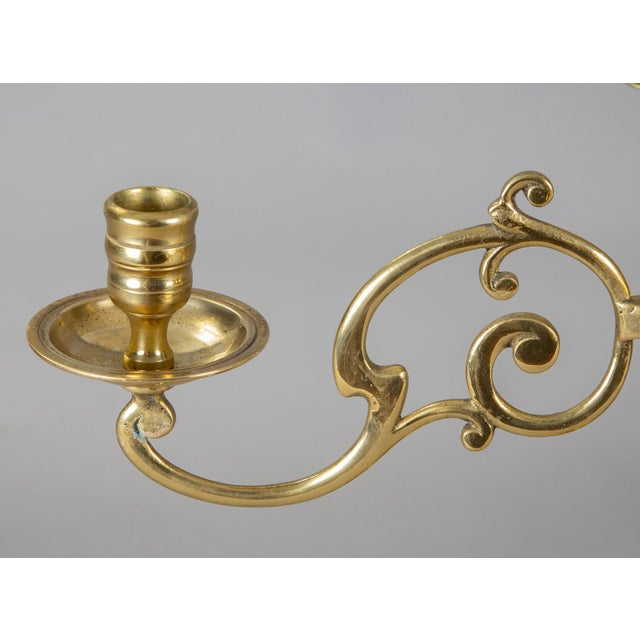 19th Century Antique English Brass Candelabra, Pair For Sale - Image 5 of 8