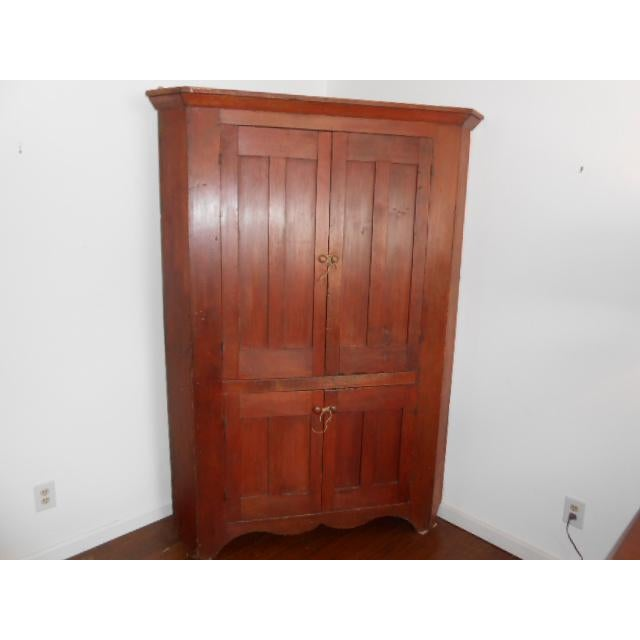 19th Century Early American Corner Cupboard For Sale - Image 11 of 11