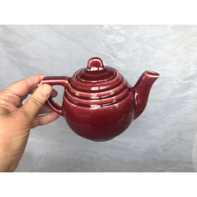 Vintage 1940s Usa Pottery Teapot For Sale - Image 11 of 13