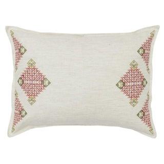 Diamond Edge Melon Ivory Pillow