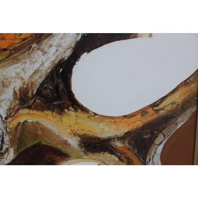 A- Large Vintage Expressionist Abstract Painting - Image 9 of 11