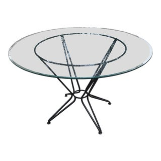 20th Century Russell Woodard Salterini Wrought Iron Dining Patio Table Last Call For Sale