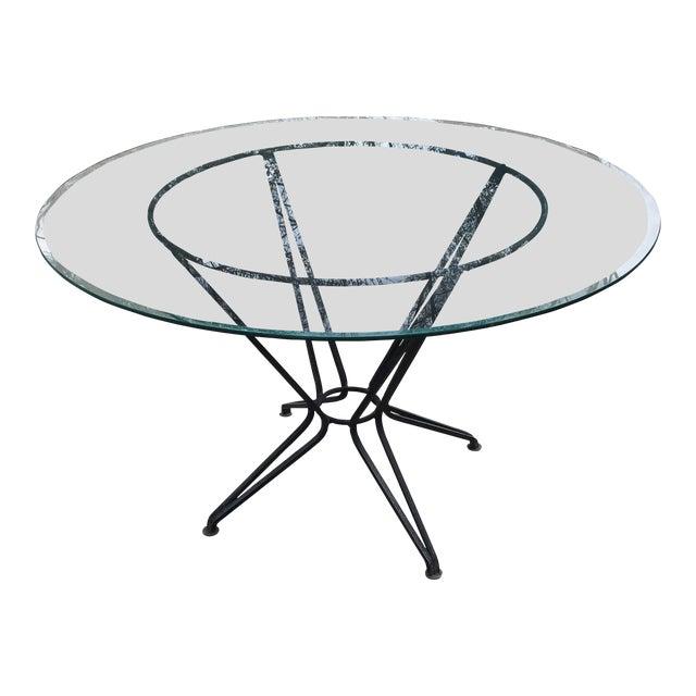 20th Century Salterini Tempestini Wrought Iron Dining Patio Table Last Call For Sale