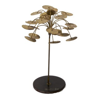 Brass and Steel Welded Tree Sculpture Signed For Sale