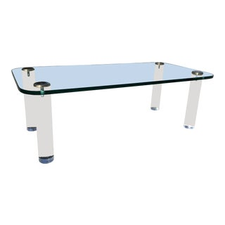 1980s Mid Century Modern Pace Collection Leon Rosen Coffee Table For Sale