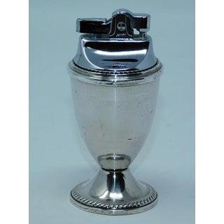 Sterling Silver Table Lighter - Weighted Sterling Signed Mayflower .925 Lighter Retro Vintage Lighter Preview