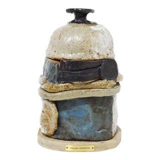 Ceramic Vessel Signed Eselean Henderson, American 1917 - 2004 For Sale