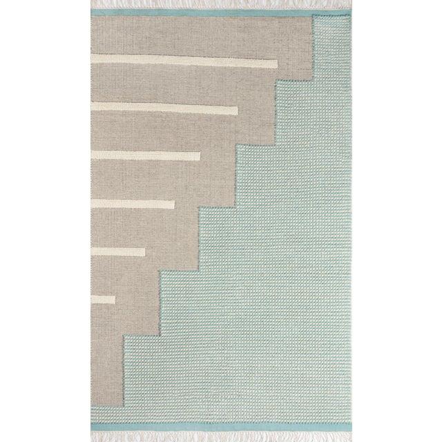 Textile Novogratz by Momeni Karl Jules in Blue Rug - 2'X8' Runner For Sale - Image 7 of 7