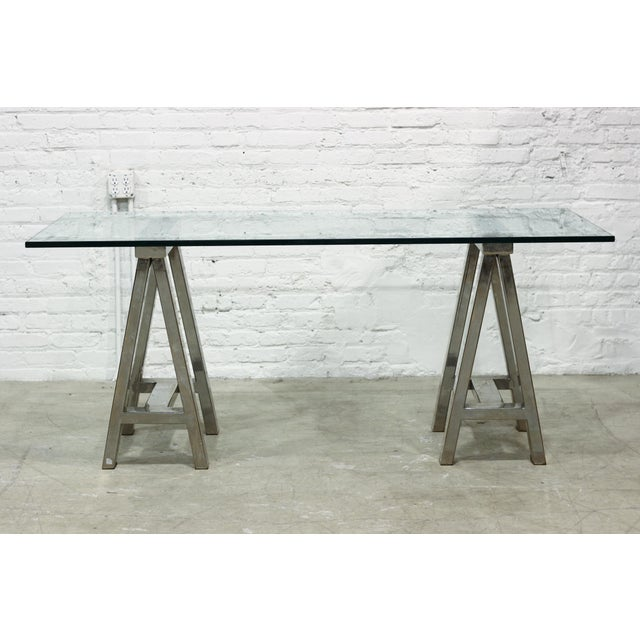 Mason Glass Top Desk by Williams-Sonoma Home - Image 2 of 5