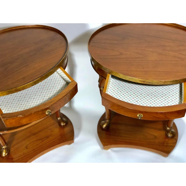 1940s Pair of French Swan Side Tables For Sale - Image 5 of 8