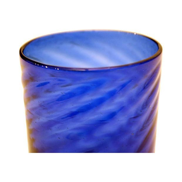 Cobalt Blue Vessel with Cocktail Stirrers - Image 4 of 5