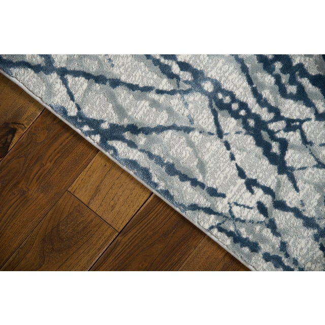 """Not Yet Made - Made To Order Stark Studio Rugs Jeeves Rug in Blue, 5'3"""" x 7'9"""" For Sale - Image 5 of 7"""