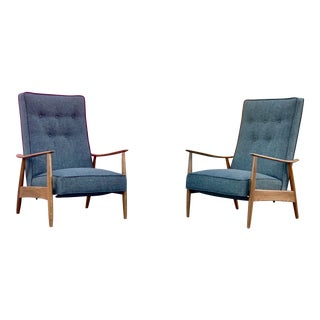 Mid Century Modern Milo Baughman for Thayer Coggin Recliners - a Pair For Sale
