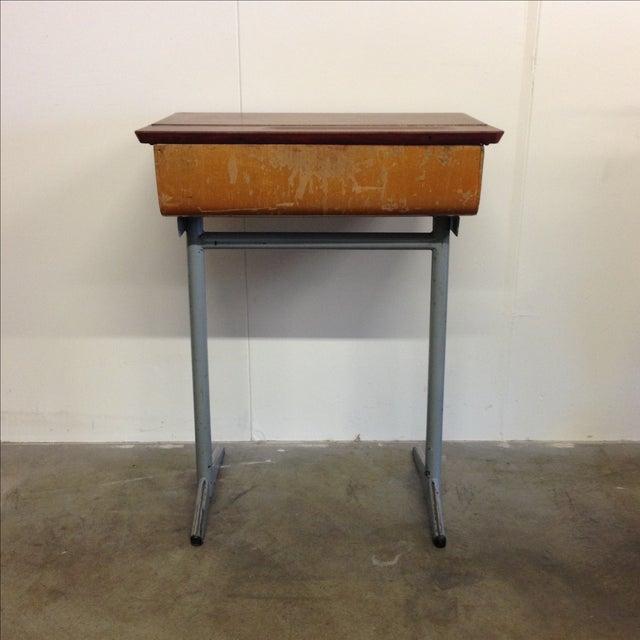 Vintage French Child's School Desk - Image 5 of 7