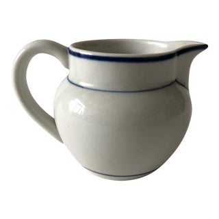 Portuguese Ceramic Blue and White Pitcher
