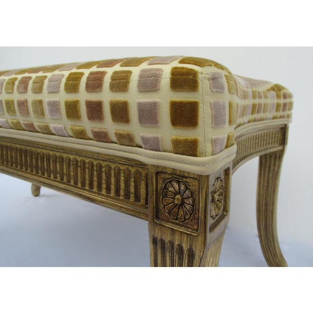 Gilt French Empire Style Interior Crafts Bench For Sale - Image 9 of 13