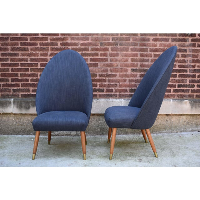 Mid 20th Century Mid Century Modern Slipper Chairs - a Pair For Sale - Image 5 of 10