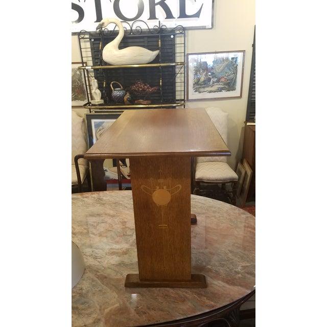 Harvey ellis stickley inlaid oak side table chairish harvey ellis stickley inlaid oak side table for sale image 5 of 11 watchthetrailerfo