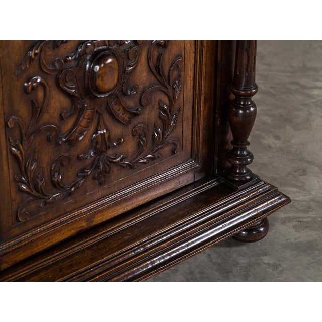 Brown Antique French Henri II Style Walnut Buffet circa 1875 For Sale - Image 8 of 11