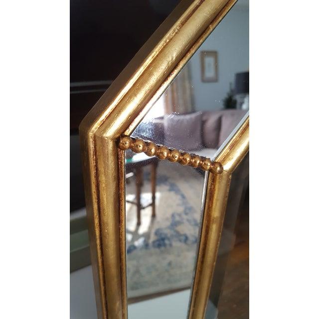 Vintage La Barge Italian Gilt Wood Octagonal Gold Beveled Mirror - Image 4 of 8