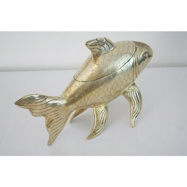 16 brass koi fish lidded centerpiece bowl chairish for Fish bowl price