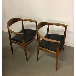 1950s Vintage Hans Wegner for Johannes Hansen Round Chairs- A Pair Preview