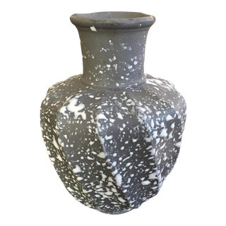 Studio Splatter Glaze Pottery Vase For Sale