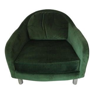 Mid-Century Chrome Barrel Chair