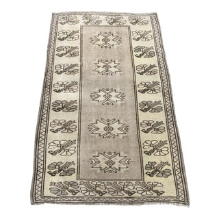 Vintage Bohemian Hand-Knotted Rug For Sale