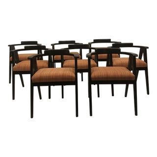 Alan Gould Style Dining Chairs - Set of 8 For Sale