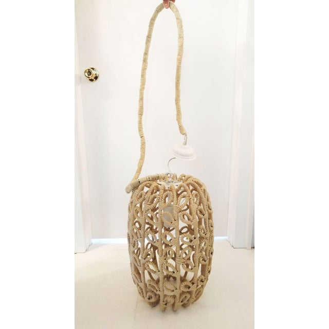 Boho-Chic Jute Pendant Light - Image 4 of 6