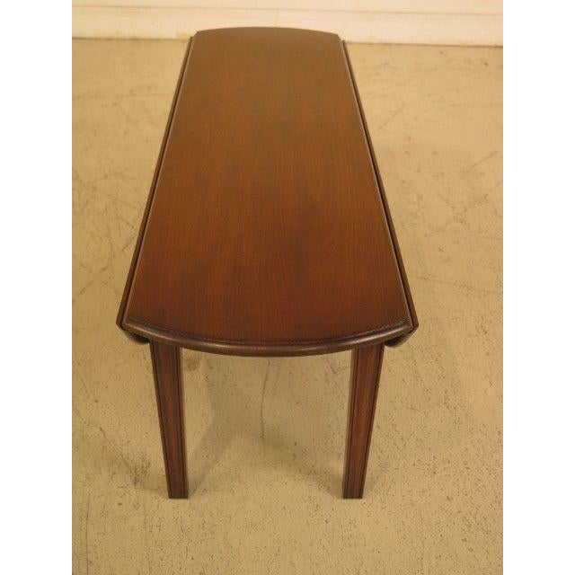 Brown 1960s Traditional Kittinger Drop Leaf Mahogany Coffee Table For Sale - Image 8 of 12