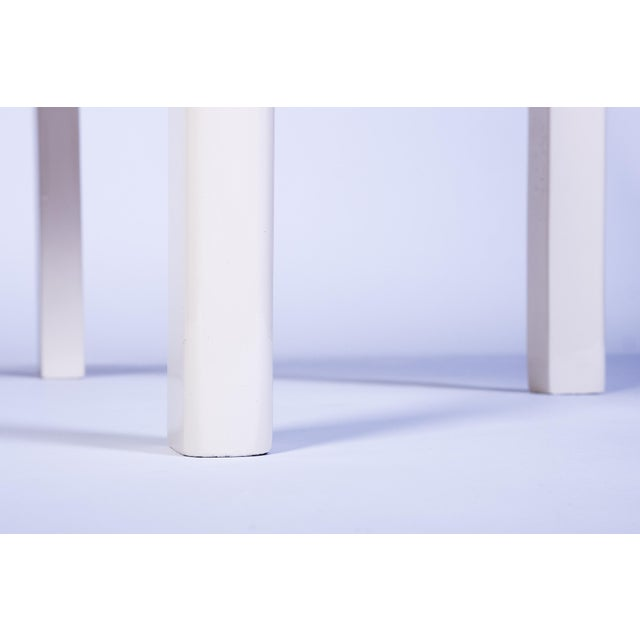 1930s Chic Art Deco Side Table in White For Sale - Image 5 of 6