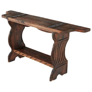 Circa 1950 William Westenhaver for Witco Carved Tiki Console Table