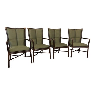 McGuire Cambria Arm Chairs -Set of 4 For Sale