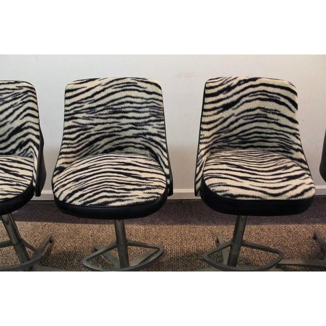 Chromcraft Mid-Century Zebra Bar Stools - Set of 6 - Image 5 of 10