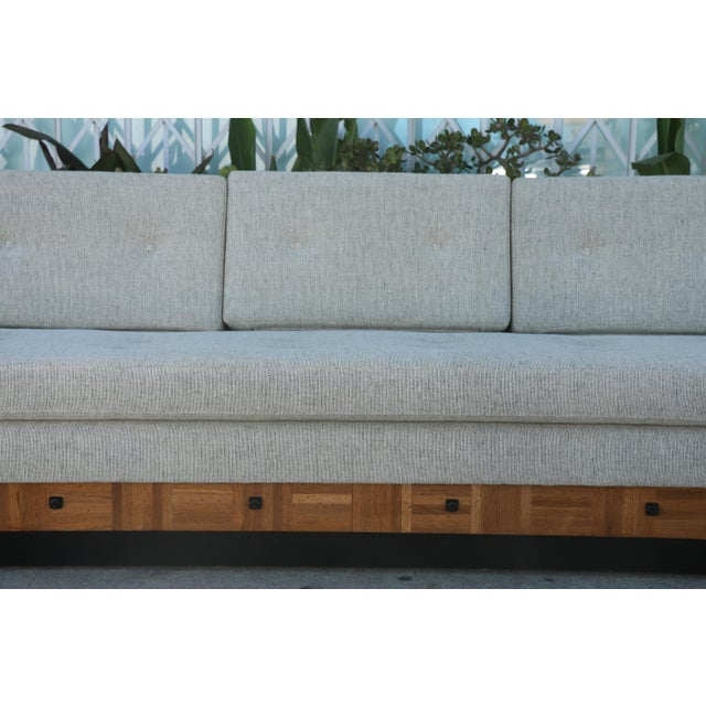 Adrian Pearsall Adrian Pearsall Patched Burlwood Platform Sofa For Sale - Image 4 of 12