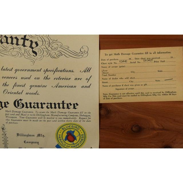 Arts & Crafts Vintage Dillingham Cedar Chest For Sale - Image 3 of 12