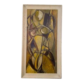 Mid-Century Cubist Portrait of Woman For Sale