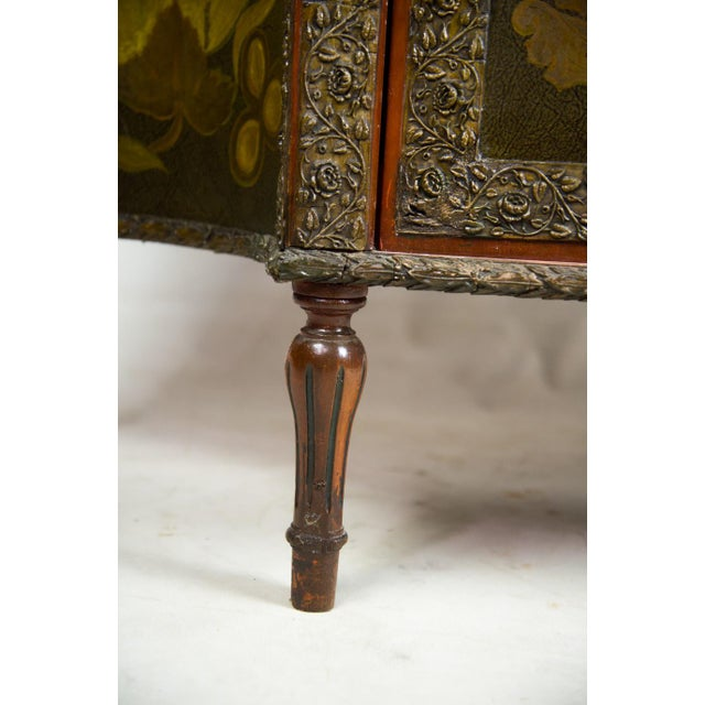 20th C. Chinoiserie Carved Mahogany Console Cabinet For Sale - Image 11 of 13