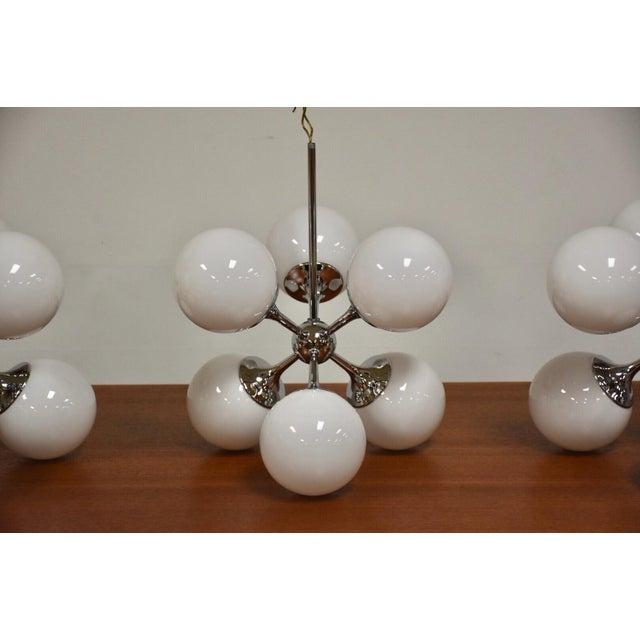 Lightolier Lightolier Chrome Sputnik Chandeliers- Set of 3 For Sale - Image 4 of 9