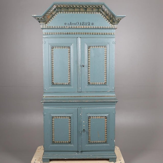 Swedish Antique Cabinet Anno 1812 For Sale In Miami - Image 6 of 6