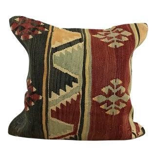 Turkish Decorative Kilim Accent Pillow Cover For Sale